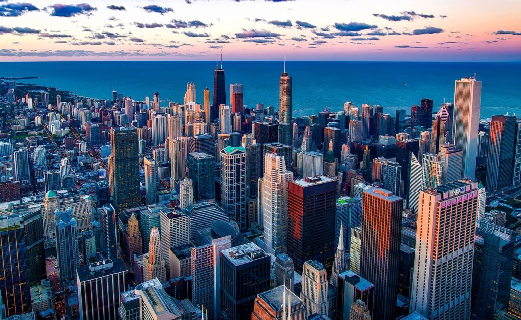 chicago, illinois, lake michigan